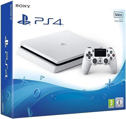 PS4 Slim 500 Go F - blanc [Importación francesa]: Amazon.es: Videojuegos