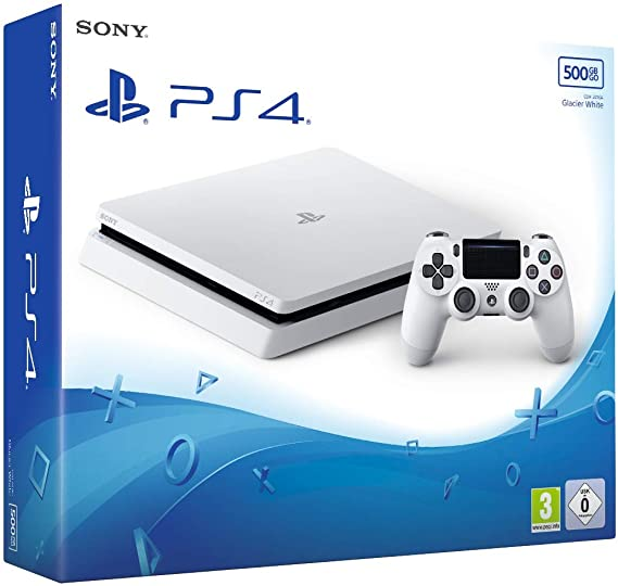 PS4 Slim 500 Go F - blanc [Importación francesa]: Amazon.es ...