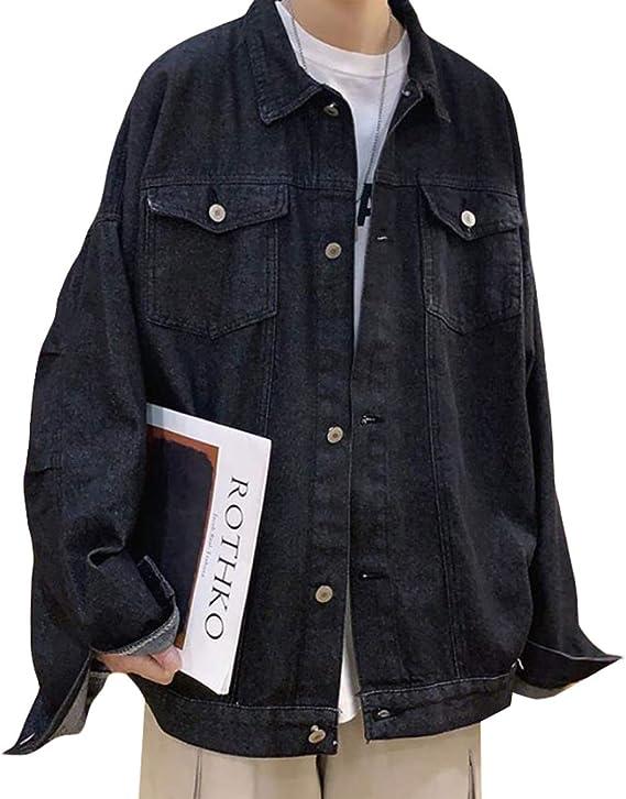 BEIBANGデニムジャケット メンズ ジージャン 大きいサイズ ジャケット 長袖 デニム ゆったり 秋服 カジュアル アウター 黒 おしゃれ コート