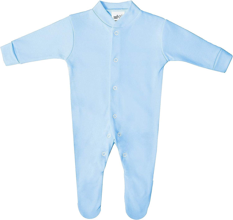 Strampler Baby Premium Baumwolle Schlafstrampler Langarm 2 Pack Druckknopfverschluss Britisch Gemacht 100/% Baumwolle Super Weich Maschinenwaschbar