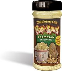 Original WhistleStop Cafe Recipes | Pop'n'Spud Parmesan Seasoning | 7-oz | 1 Shaker