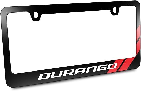 Dodge Durango Logo Chrome Plated Metal License Plate Frame Holder