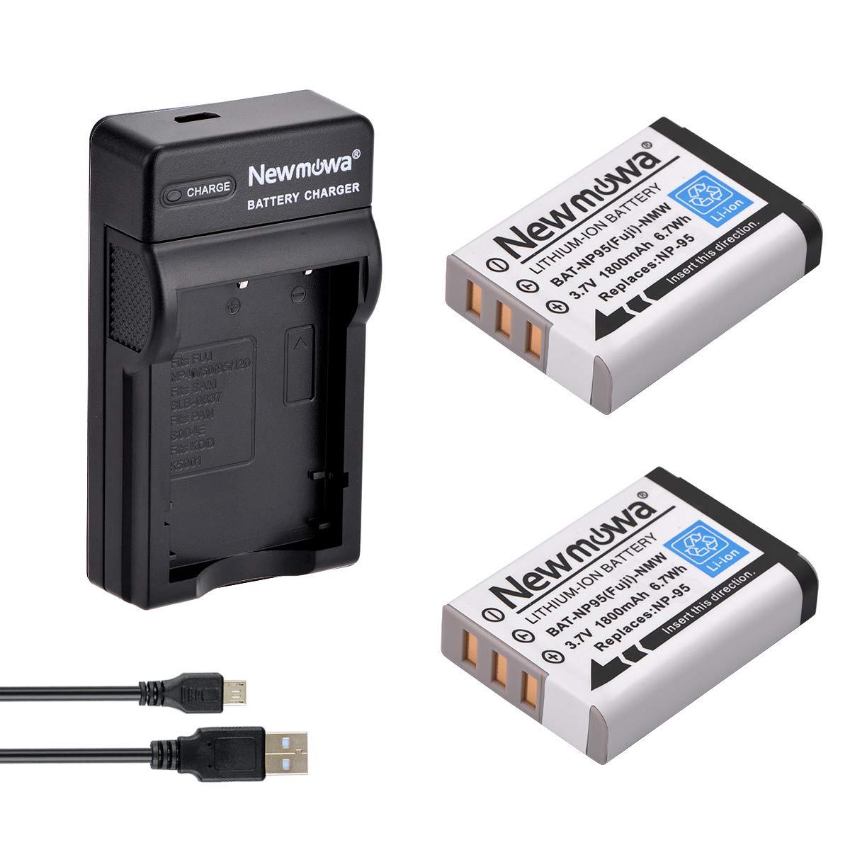 Newmowa NP-95 Batería (2-Pack) y Kit Cargador Micro USB ...