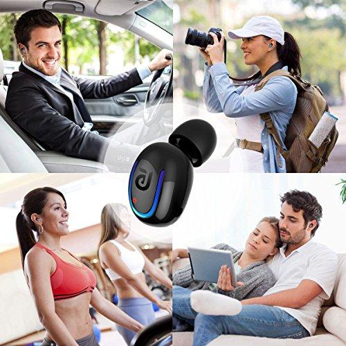 Bluetooth Headphone Kissral Wireless Sport Earbud 8 Hours Talking Time HD Microphone Bluetooth