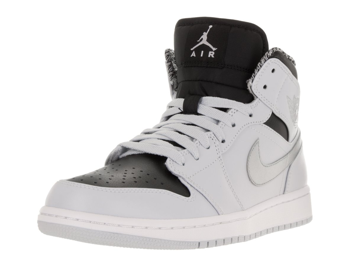25c1b6b75691 Amazon.com  Jordan Men Air Jordan 1 Mid Shoe (Pure Platinum White-Metallic  Silver) Size 13 US  Sports   Outdoors