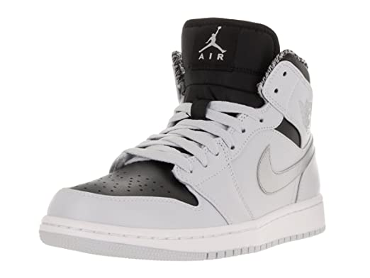 78759ff8232 Amazon.com: Nike Air Jordan 1 MID Sneaker Light Gray/Black/Silver ...