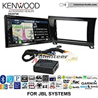 Volunteer Audio Kenwood DNX574S Double Din Radio Install Kit with GPS Navigation Apple CarPlay Android Auto Fits 2007-2013 Toyota Tundra, 2008-2013 Sequoia with Amplified Systems (Metallic Gray)