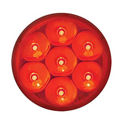 "GG Grand General 76587 Red/Red Light (2.5"" Low Profile Pearl 7 LED Dual/3Wires): Automotive"