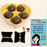 Bogatchi Rakhi Chocolate Complete Gift Pack for Brother with Free Rakhi, Card Roli and Chawal, 50g