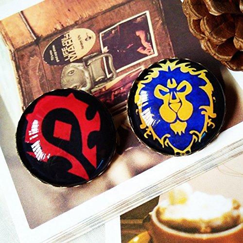 (Custom World of surrounding tribal alliance handmade retro brooch artifact camp occupation race family emblem 30)
