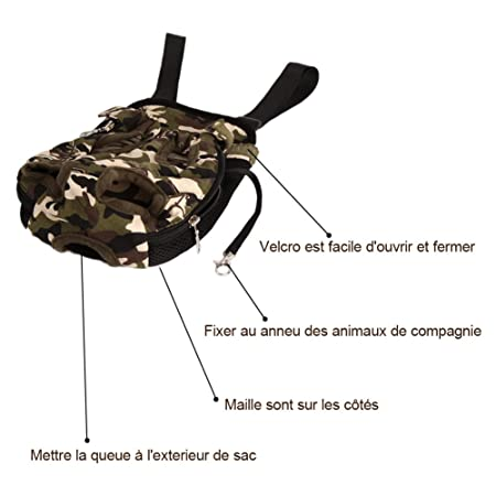 b5aa59e81e8f Front Backpack for Puppy Small Dog Cat Carrier Travel in Canevas Camouflage  X-Large-Dazone®  Amazon.co.uk  Kitchen   Home