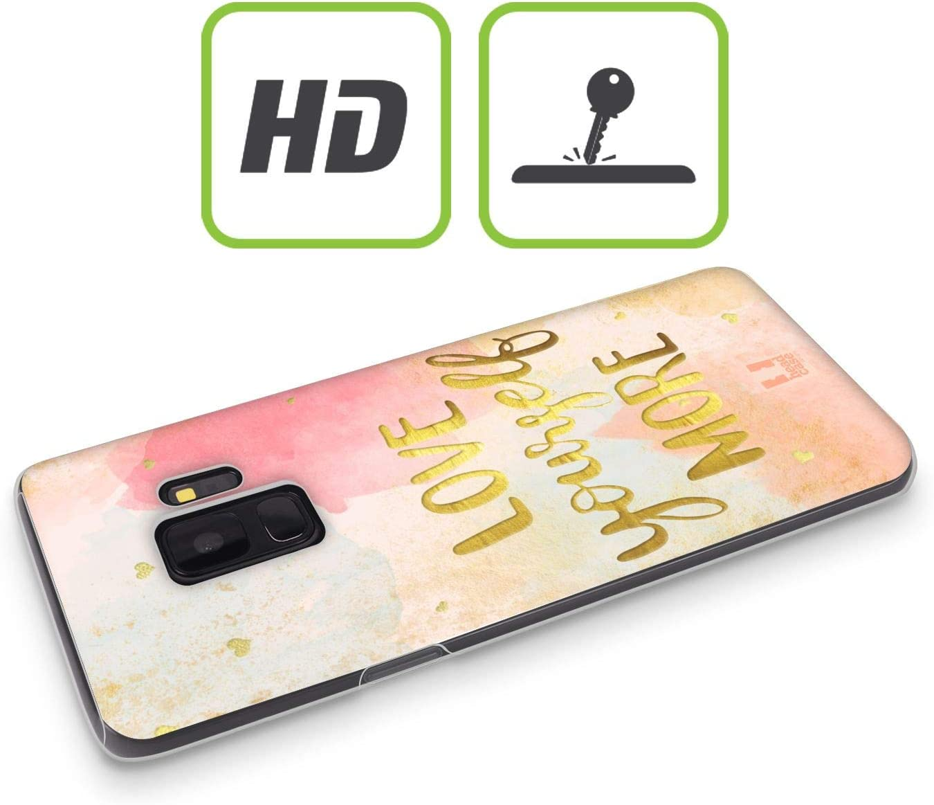 2020 Head Case Designs Sun Gold Quotes Soft Gel Case Compatible for Samsung Galaxy A41