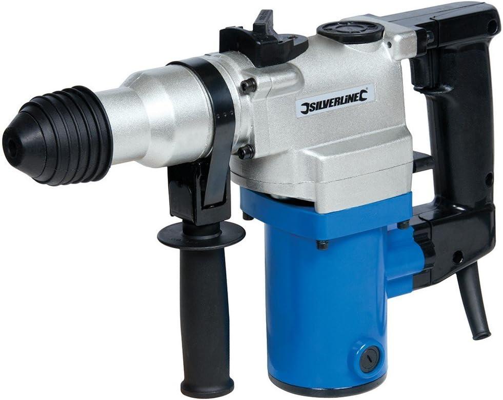 Silverline 633821 Perforateur burineur SDS Plus 850W Bleu/gris