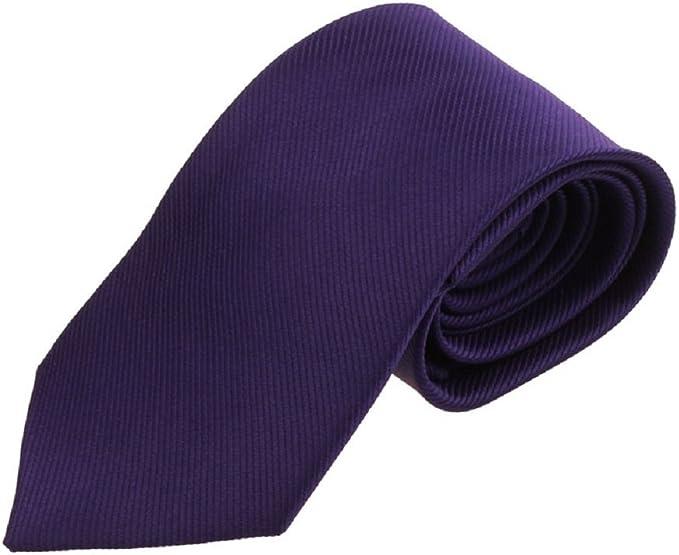 Ularma Moda Nuevo Color sólido clásico rayas corbata corbata ...