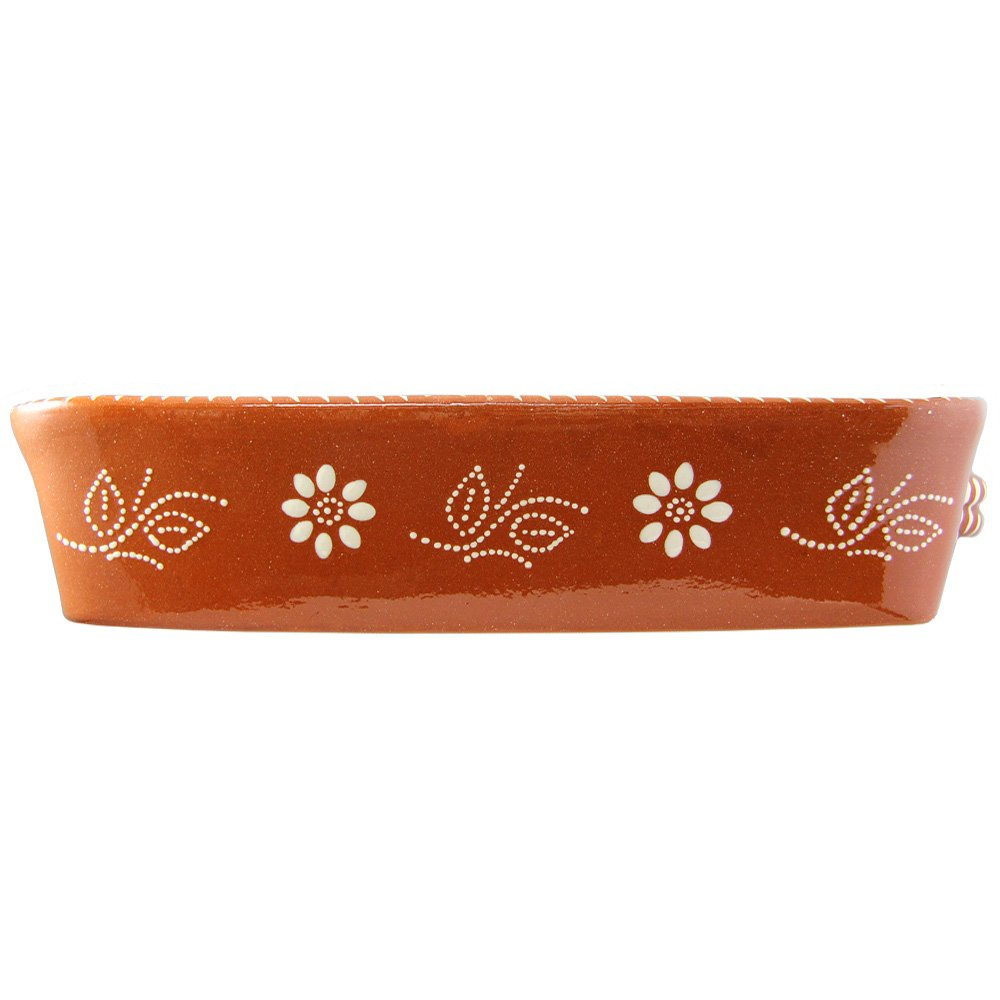 Vintage Portuguese Traditional Clay Terracotta Pottery Roasting Tray Made In Portugal (N.2 13 5/8 x 9 3/4 x 3 1/8'' Inches) by Ceramica Edgar Pinto (Image #2)
