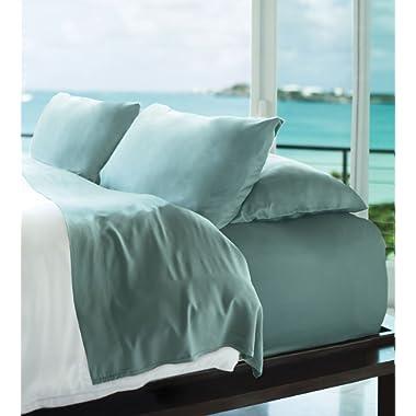 Cariloha Resort Bamboo Sheets 4 Piece Bed Sheet Set - Luxurious Sateen Weave - 100% Viscose from Bamboo Bedding (Tahitian Breeze, Queen)