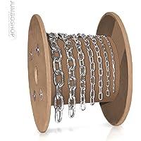 L/änge w/ählbar 3m 5m 25m Stahlkette Meterware Langgliedrig verzinkt 4,5x34x18mm Gliedgr/ö/ße 3 Meter