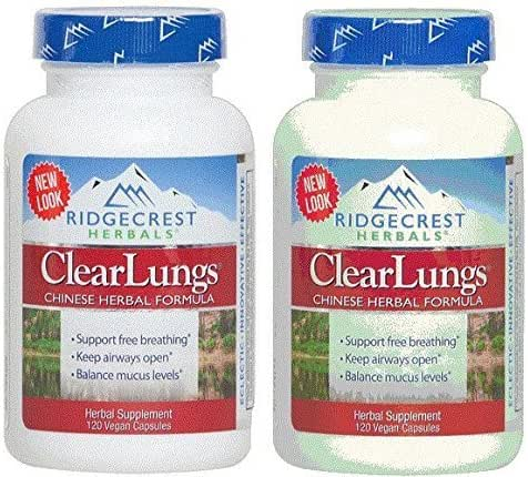 RidgeCrest Clearlungs (Red), , 120 Vegetarian Capsules (2 Pack)