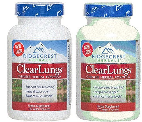 (RidgeCrest Clearlungs (Red), , 120 Vegetarian Capsules (2 Pack))