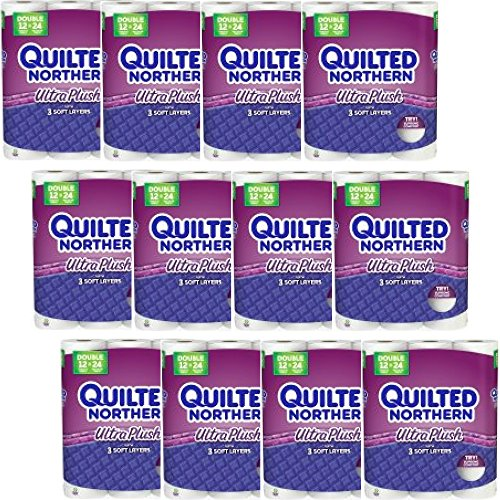 Quilted Northern Ultra Plush Toilet Paper, Bath Tissue (48 Double Rolls x 3) by Quilted Northern