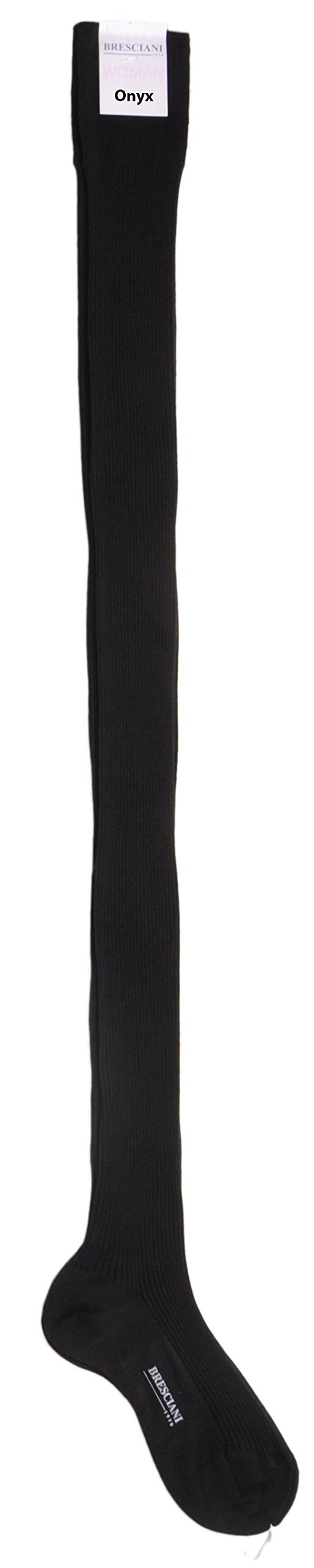 Ultimate Socks - Womens Cashmere and Silk Thigh-Highs One Pair Medium/Onyx