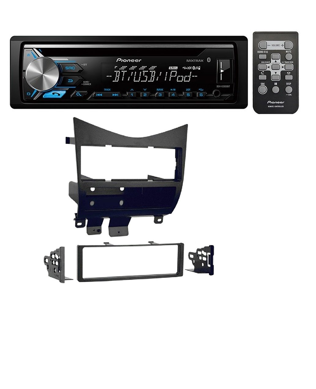 Honda Accord Radio Install Kit With Pioneer Deh X3900bt Western Star Wiring Harness Single Din Car Stereo Cd Receiver Built In Bluetooth Electronics