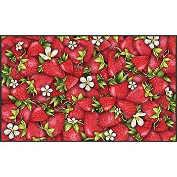 Amazon Com Strawberry Basket Matmate Doormat