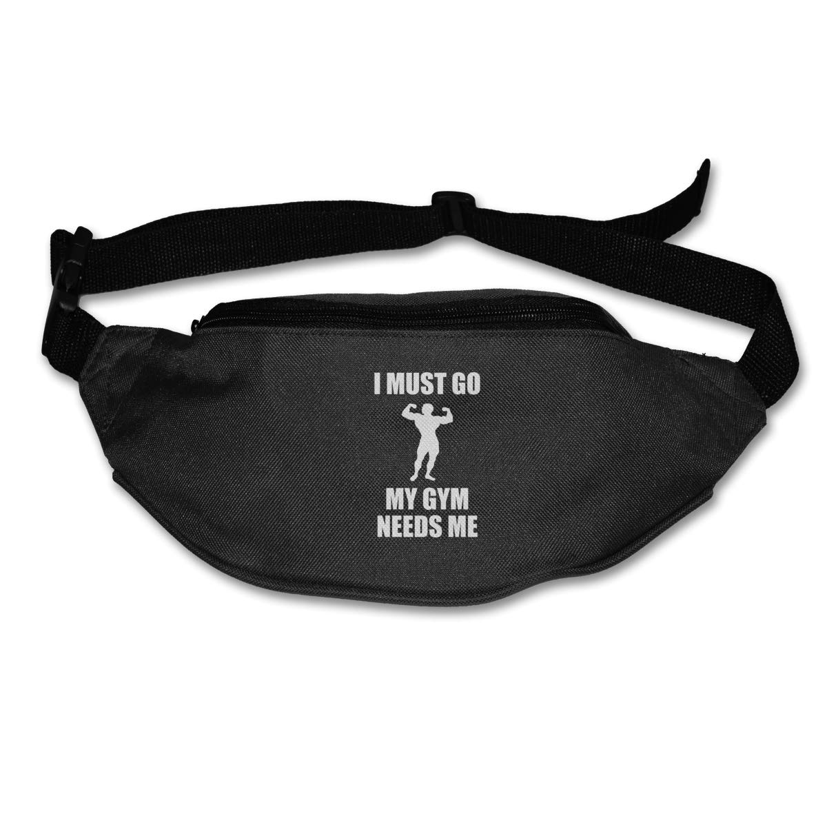 I Must Go My Gym Needs Me Sport Waist Pack Fanny Pack Adjustable For Hike