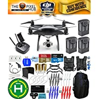 DJI Phantom 4 Pro Black Obsidian Edition Drone PRO BUNDLE With Blue Pro II Backpack, Vest Strap, Extra Props, Filter Kit Plus Much More (3 Batteries)