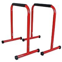 SportPlus Dip Station/Dip Barren für Dips, Liegestütze & Beinlifts – Push up Stand Bars inkl. Übungsanleitung, Fitness Rack, bis 120kg