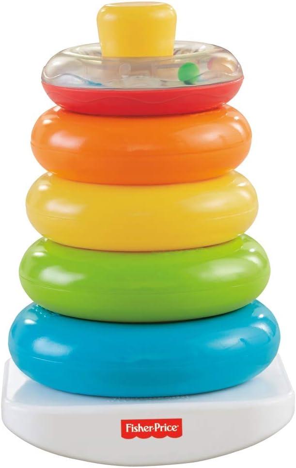 Fisher-Price - Pirámide balanceante, juguetes bebe 6 meses (Mattel N8248)
