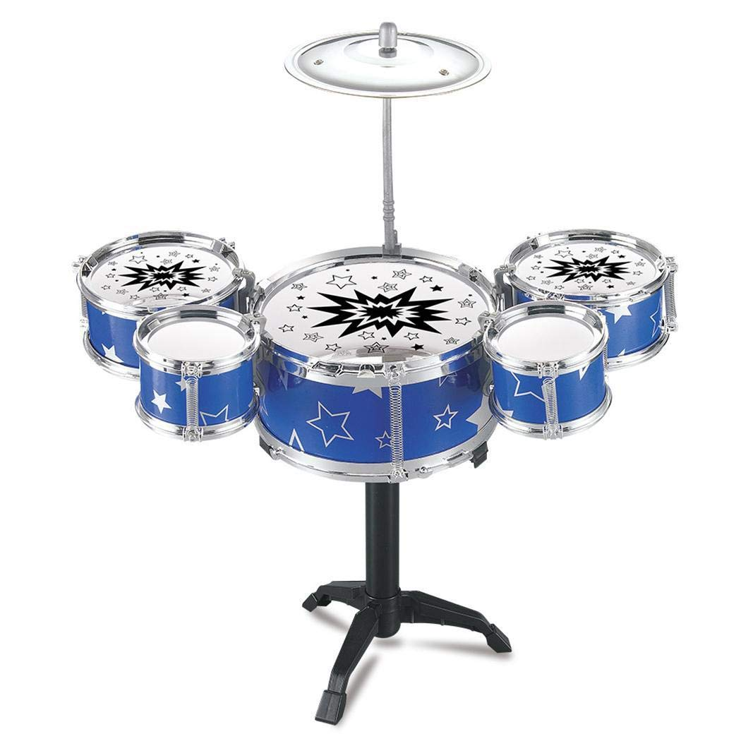Detailorpin Kids Toy Jazz Drum Kit Musical Instrument Toy Early Educational Toy