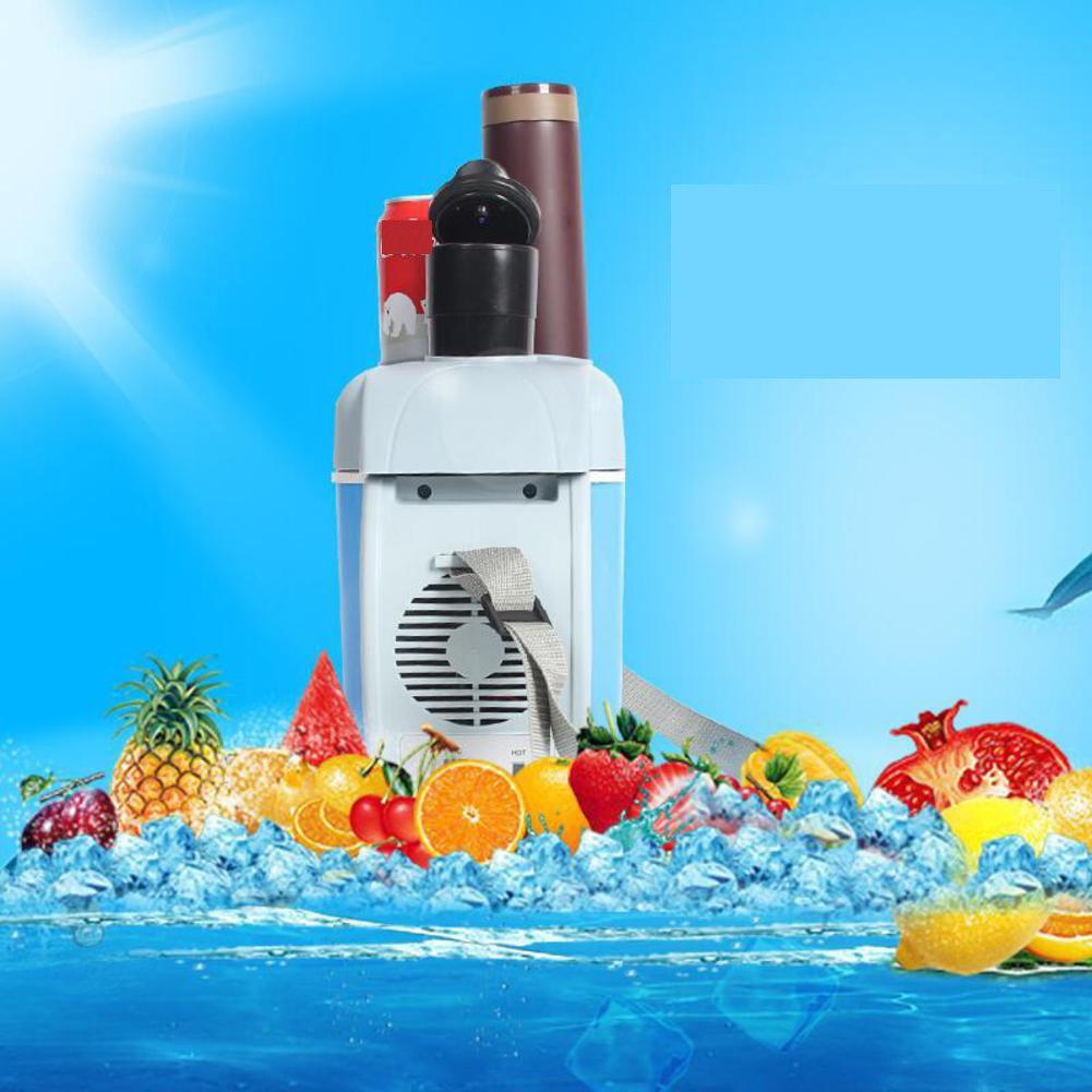 SL&BX Car refrigerators,Mini fridge 7.5 car home refrigerator 12v hot and cold box portable can beverage cooler for bedroom,Office or dorm-Blue 34x20x32cm(13x8x13inch)