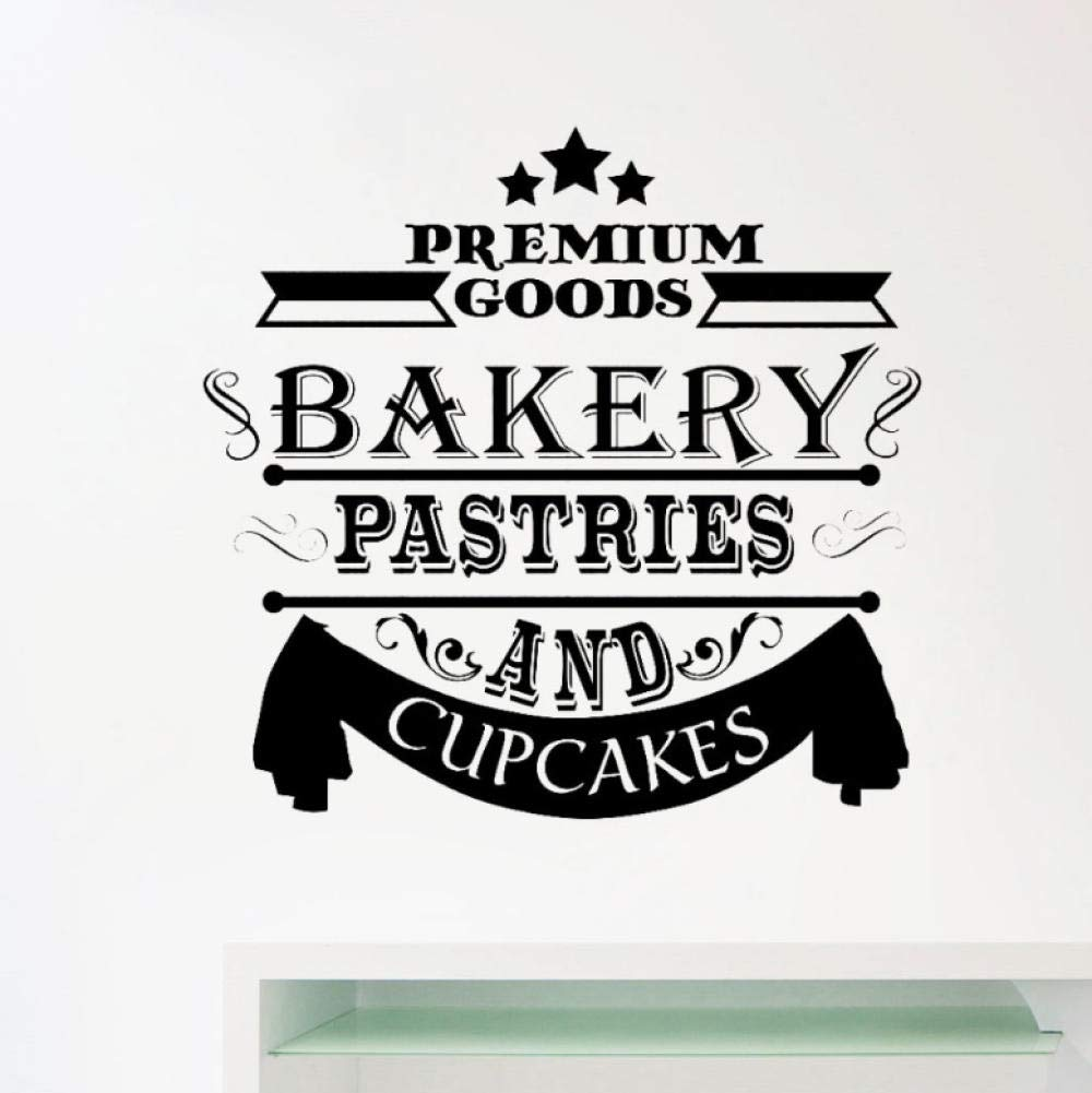 wsydd Bakery Decal Window Stickers Cupcakes Decals Cafe Bakeshop Decoration Removable Home Decor Kitchen Wall Decals Mural 59x57cm by wsydd