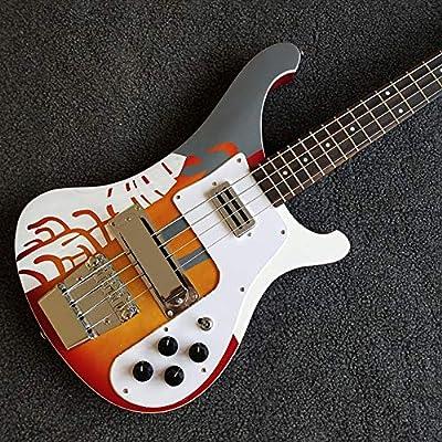 Bass Guitar, guitarra eléctrica de 4 cuerdas, color atardecer ...