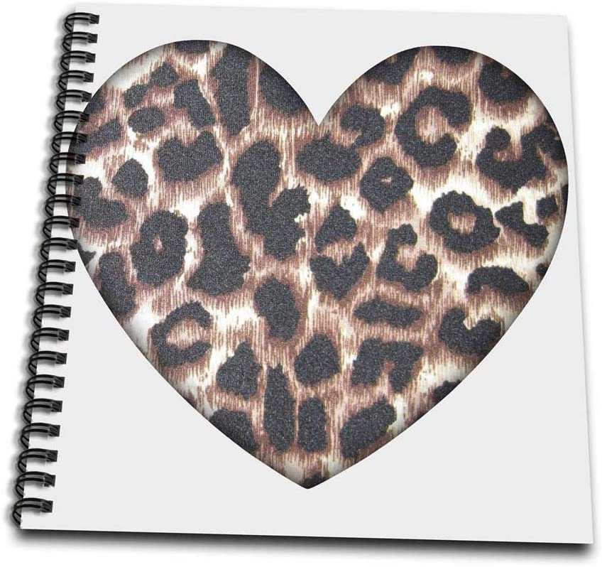 Amazon Com 3drose Db 30870 1 Heart Leopard Print Animal Prints Fashion Drawing Book 8 By 8 Inch Arts Crafts Sewing