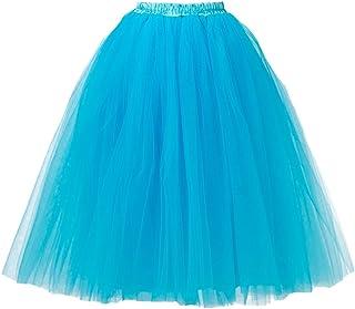 SK Studio Women's Short Vintage Petticoat Skirt Ballet Bubble Tutu Multi-colored SK-UK-M-QC6655-9
