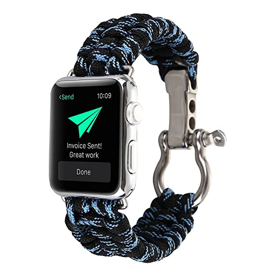 Amazon.com: PINHEN for Apple Watch Series 4 Band ...