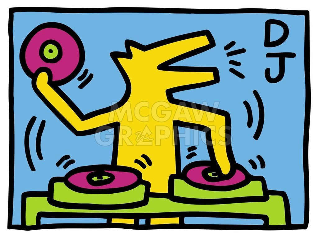 Amazon.com: KH07 D. J. by Keith Haring, Art Print Poster 14\