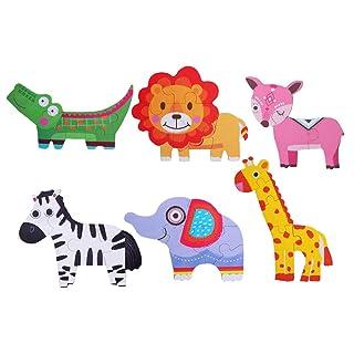 Toyvian Puzzle di Legno Puzzle di Animali Modello di Puzzle Giocattoli Educazione Apprendimento Giocattoli di intelligenza per i più Piccoli Bambini Piccoli