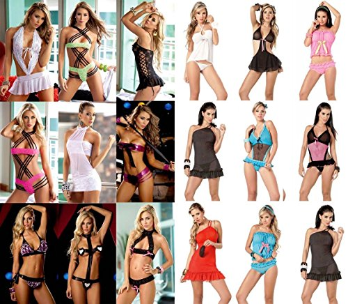 G-string Camisole Baby Doll (New Wholesale Lot Baby Doll Camisole Teddy Gogo Lingerie Thong G-String S M L XL(XL Lot Of 5 Randomly Picked))