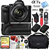 Sony a7 II Full-Frame Alpha Mirrorless Digital Camera 24MP (Black) Body Only a7II ILCE-7M2 Extra Battery Case Memory Card Deluxe Pro Bundle (28-70 Kit, Grip Bundle)
