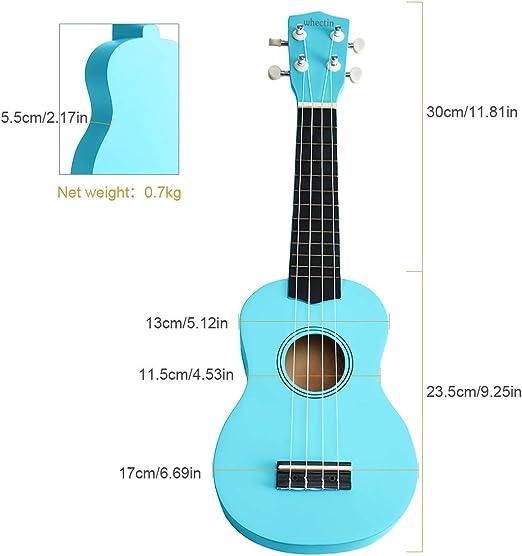 Whectin - Ukelele soprano (21 pulgadas, mini guitarra con bolsa de ...