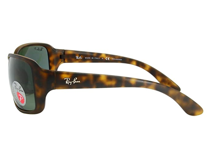 ad0fd7e60af Amazon.com  Ray Ban RB4068 894 58 Matte Havana   Brown Polarized Sunglasses   Clothing