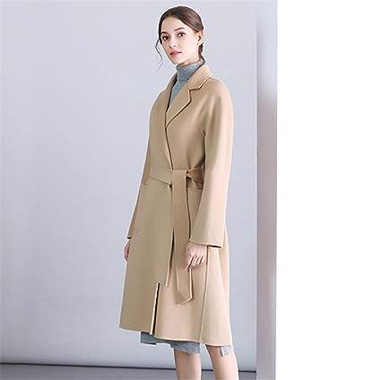 Para mujer Abrigo de lana Largo Invierno Casual Cachemira Prendas de abrigo Doble Pecho Abrigo Traje