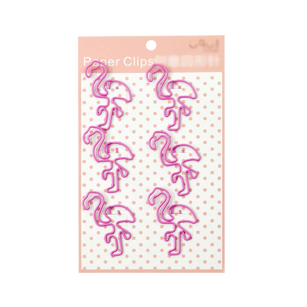 MoGist Lovely Flamingo Shape Paper Clips Bookmarks Clips Creative Gifts Office Supplies File Storage
