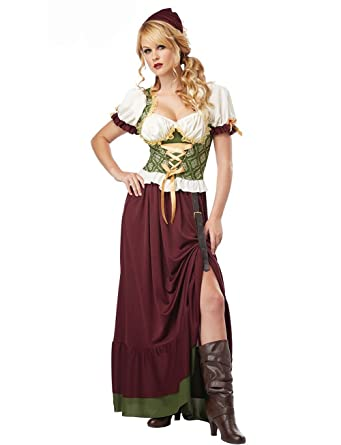 2a660eb6110 Amazon.com  California Costumes Women s Renaissance Wench Adult ...