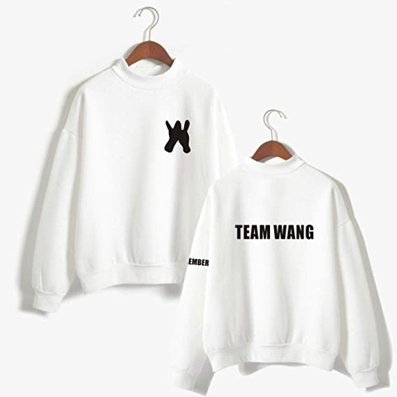 Jackson Loose Turtleneck Hoodies Pullover Team Wang Letter Print Fans Sweatshirt Sudaderas at Amazon Womens Clothing store: