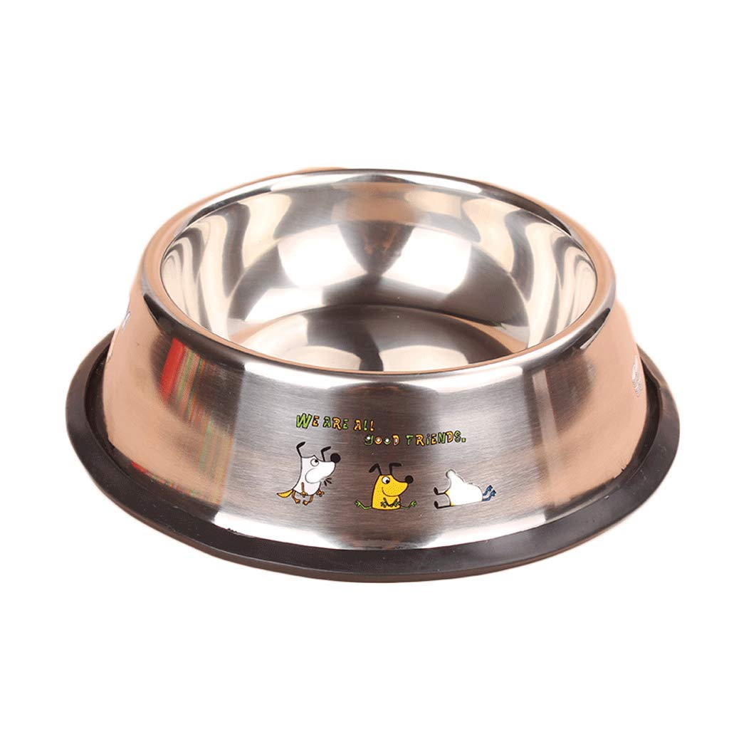 4 4-6 Size Stainless Steel Pet Bowl Cat Dog Bowl Bowl Pet Supplies (Size   4)