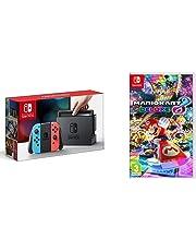 Nintendo Switch - Consola color Azul Neón/Rojo Neón + Mario Kart 8 Deluxe